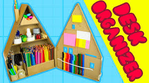 diy desk organiser 2 inside the cardboard house craft ideas