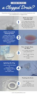 fixing a clogged drain how to fix a clogged drain drain cleaner and household products