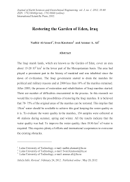 restoring the garden of eden iraq pdf download available