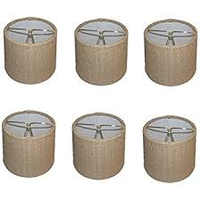 Lamp Shades For Chandeliers Upgradelights Sea Grass 5 Inch Retro Drum Clip On Chandelier Lamp