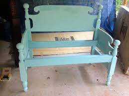 Bed Frame Bench Transforming Furniture From Bed Frame To Bench American Paint