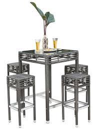zipcode design lucai 36 pub table graphite backless stool pub set 5 pc pub set stools and dining