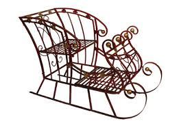 archiet griffiths 2 and gold metal sleigh decoration