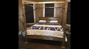 Bed Frame King Size Farmhouse Bed Frame King Size Four Poster Youtube