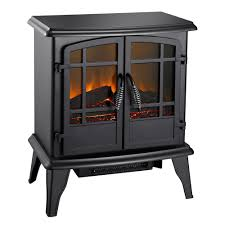 pleasant hearth 400 sq ft 20 in electric stove in matte black