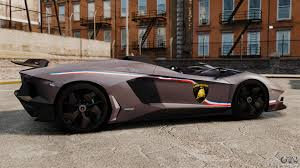 Lamborghini Aventador J Blue - lamborghini aventador j big lambo for gta 4