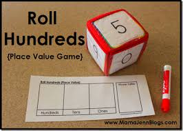 printable math games on place value roll hundreds printable place value game zzteacher resources