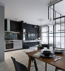 room of the week an open plan living space with a glass wall