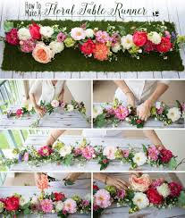 Fake Flowers For Wedding - how to make a floral table runner flower spray silk flowers and