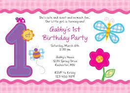 baby girl 1st birthday birthday baby girl 1st birthday invitation template