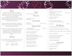 wedding bulletins wording for wedding program traditional catholic mass weddings