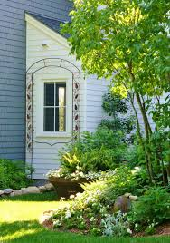 garden classy image of home exterior and garden decoration using
