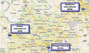 washington dc airports map map of washington dc airports map travel holidaymapq com