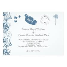 wedding invitations malta blue butterfly wedding invitations announcements zazzle co uk