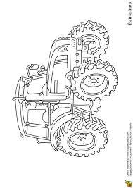 dessin d u0027un tracteur agricole moderne à colorier coloriages de