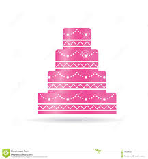 wedding cake logo pink wedding cake logo stock vector image 44584681