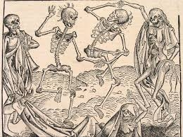 dancing halloween skeleton background occult wallpaper and background 1808x1347 id 301559