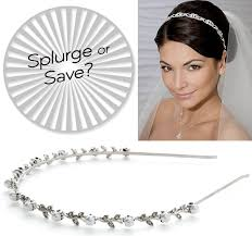 bridal headband splurge vs save bejeweled bridal headbands