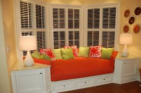 decorations simple bay windows decor with small curtain and