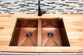 undermount kitchen sink with faucet holes copper kitchen sinks signature kitchen copper sink circle city