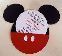 Birthday Card Invitations Ideas Personalized Mickey Mouse Birthday Invitations Kawaiitheo Com