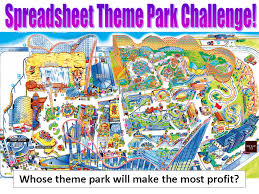 Spreadsheet Lesson Plans For High by Theme Park Spreadsheets Lesson 1 Simon Haughton S Website