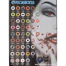 day scary extreme halloween contact lenses pentagram 1 pair