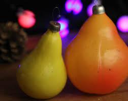 glass fruit ornament etsy