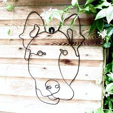 Topiary Dog Garden Wall Art Or Topiary Frame Dog By London Garden Trading