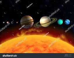 diagram illustration planets solar system relation stock