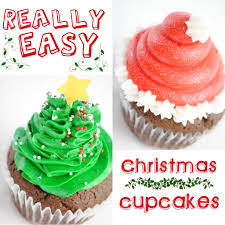 easy christmas cupcakes santa hats and christmas trees