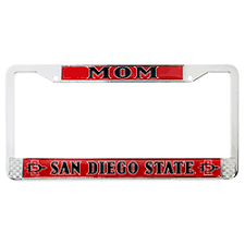 sdsu alumni license plate frame shopaztecs license plate frame