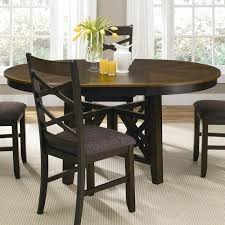 pedestal dining room table colby round to oval single pedestal dining table with 18 inch