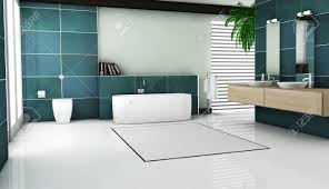 interior contemporary bathroom design with granite tiles and