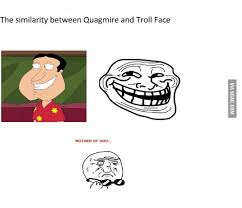 Mother Of God Meme Face - the similarity between quagmire and troll face mother of god