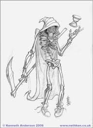 character design and illustration by kenneth anderson grim reaper