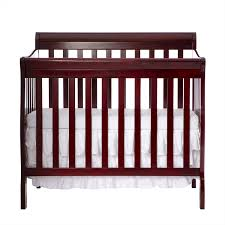 Mini Convertible Cribs On Me Aden 4 In 1 Convertible Mini Crib Espresso Walmart