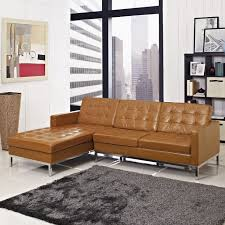Vintage Sectional Sofa Vintage Brown Tufted Leather Italian Sectional Sofa With Sleeper