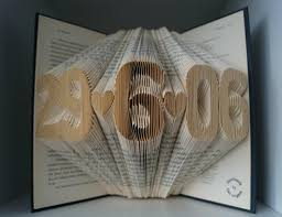 paper anniversary gift paper anniversary gift for him 5 numbers folded book made to