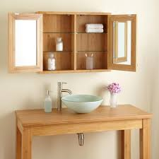 Bathroom Freestanding Furniture Bamboo Bathroom Cabinets On Best Furniture Hickory Wood Light