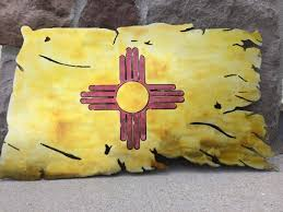 New Mexican Flag Tattered New Mexico State Flag Metal Art Torn New Mexico Flag