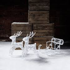 reindeer sleigh christmas light duo lights4fun co uk