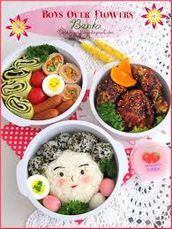 cuisine bento traditional lunch box boys flowers bento