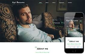 Free Resume Website Templates Personal Website Mobile Templates Designs Free