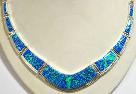 opal sterling silver necklace images Navajo ocean blue opal inlay sterling silver link necklace post jpg