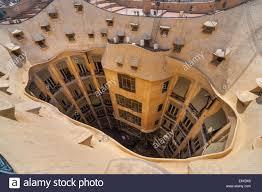 courtyard of la pedrera the stone quarry or casa milà an