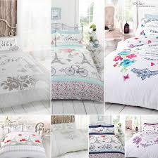 Eiffel Tower Bedding Embroidered Quilted Bedspread Throw Or Duvet Cover Bedding Set