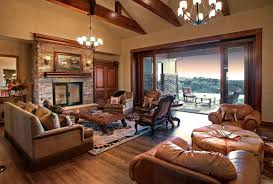 lounge room at modern luxury ranch style home design lately