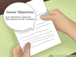 Writing A Objective For Resume How To Write A Career Objective 7 Steps With Pictures Wikihow