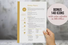 Modern Resume Template Free Word Two Columns Initials Resume Resume Templates Creative Market